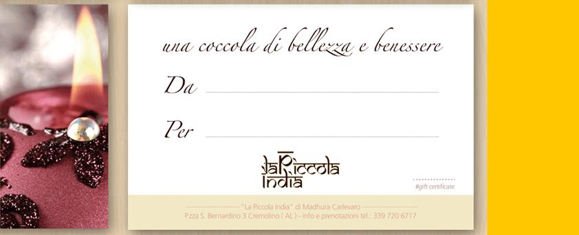 la piccola india gift card